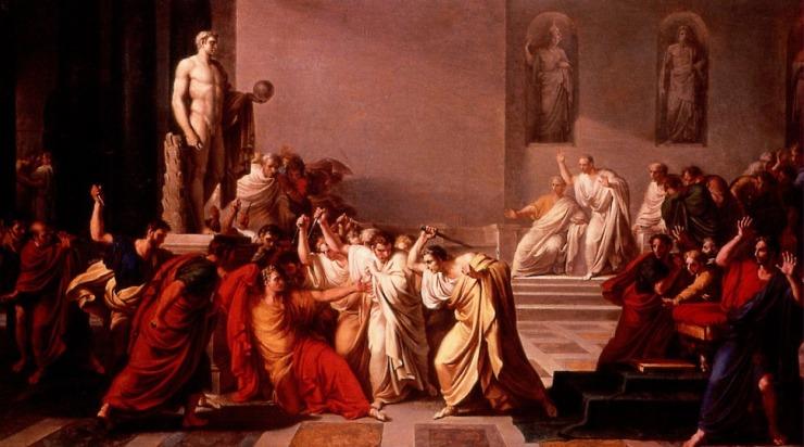 Morte di Giulio Cesare, di Vincenzo Camuccini, 1798