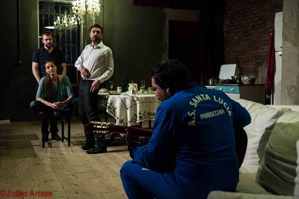 Un momento dello spettacolo, foto di Fabio Artese