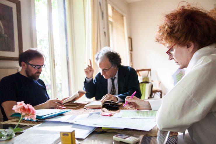 Da sinistra, Luca Scarlini, Elia Schilton e Anna Nogara