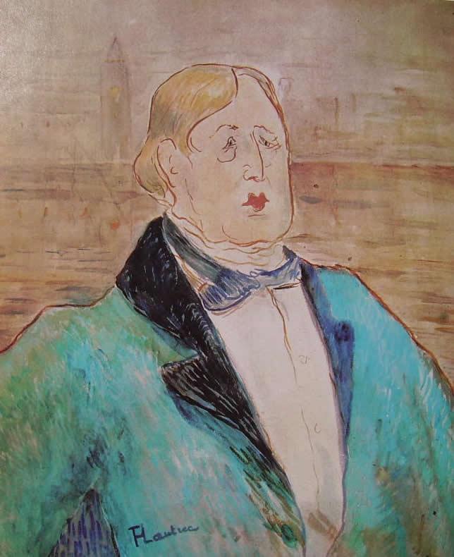 Oscar Wilde nel ritratto (1895) di Henri De Toulouse-Lautrec