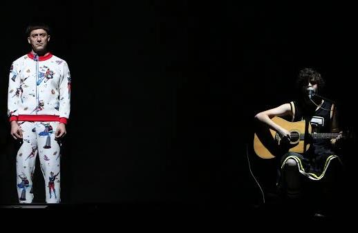 Filippo Timi e Andrea Di Donna in Skianto, foto di Sebastiano Mauri